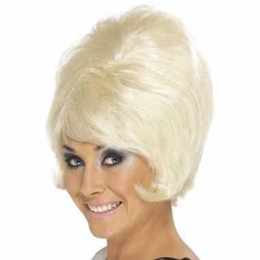 60s dames pruik peroxide blond