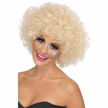 70s afropruik blond voor dames