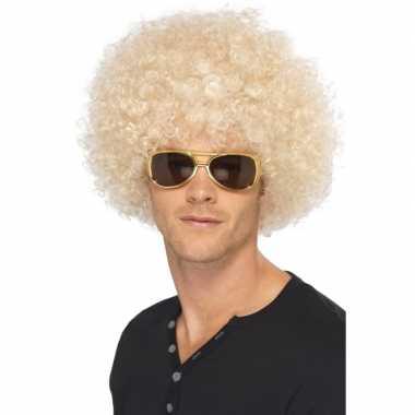 70s afropruik blond voor heren