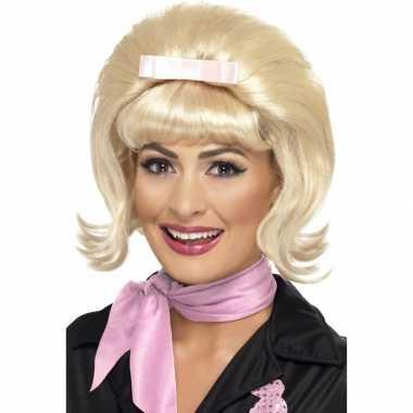 Blonde bobline pruik jaren 50