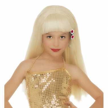 Blonde pamela pruik voor meisjes