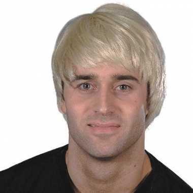 Blonde pruik heren