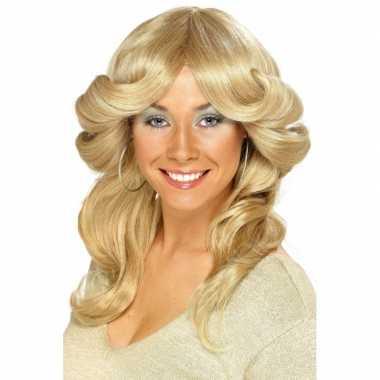 Blonde seventies pruiken voor dames
