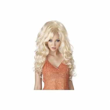 Blonde sexbomb pruik