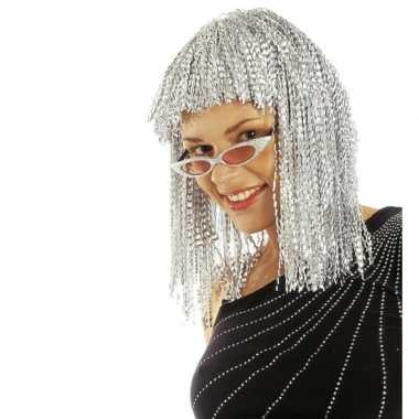 Damespruik zilver halflang