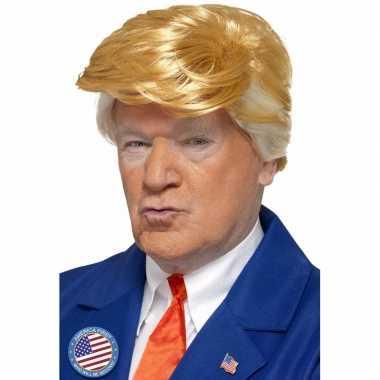Donald trump pruik blond