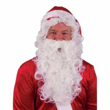 Feestartikelen kerstman baard met pruik