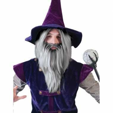 Gandalf pruik met baard