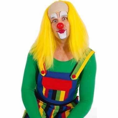 Gele clown pruiken