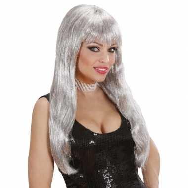 Glitter pruiker zilver
