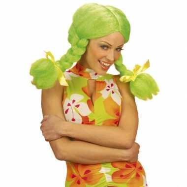 Groene dolly pruik voor dames