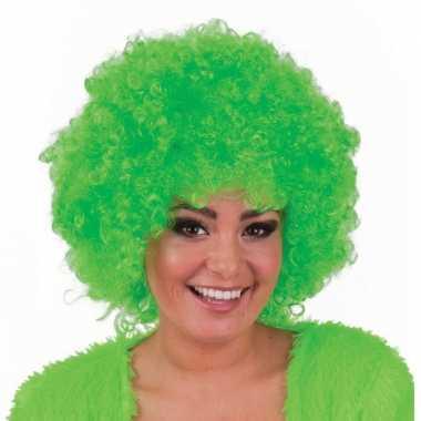 Groene pruik met krulletjes