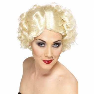 Hoog blonde dames pruik kort jaren 20