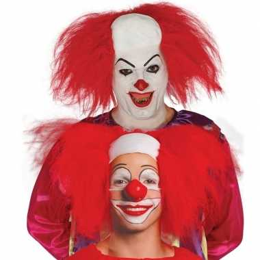 Horror killer clownspruik voor volwassenen