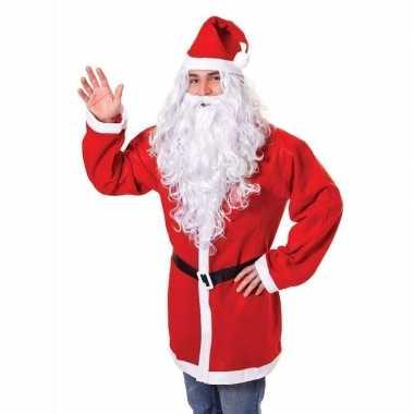 Kerstman baard met pruik zilvergrijs