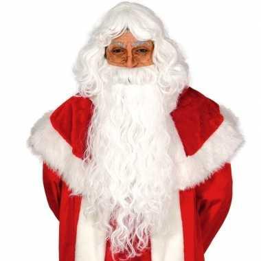 Kerstman set baard met pruik