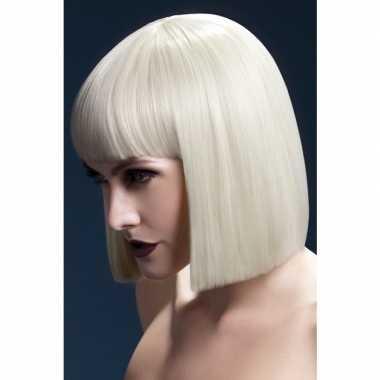 Luxe blonde korte pruik lola voor dames