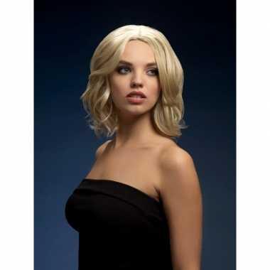 Luxe blonde korte pruik olivia voor dames