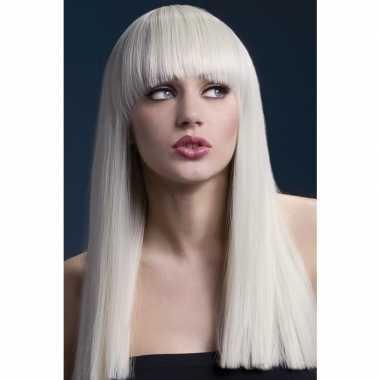 Luxe blonde lange pruik alexia voor dames