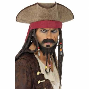 Pirates hoed met dreads pruik