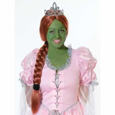 Prinsessen pruik rood haar