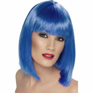 Pruik fel blauw dames