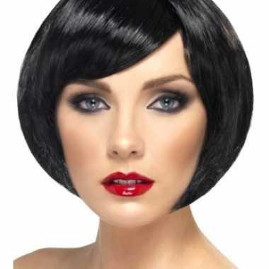 Roetveegpiet kort model zwarte damespruik