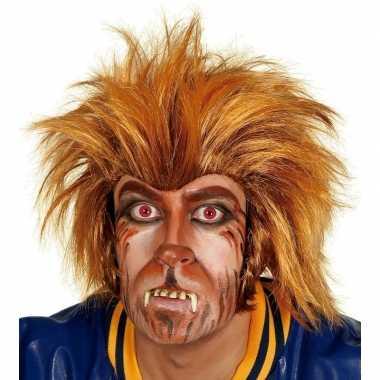 Verkleed weerwolf pruik