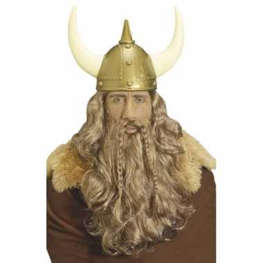 Viking pruik met golvend haar