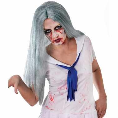 Zombie pruik met stijl haar