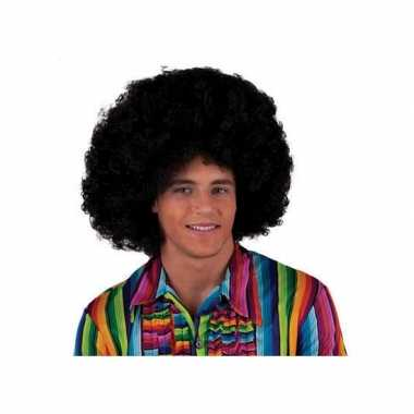 Zwarte party afro pruik
