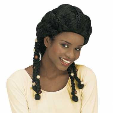 Zwarte reggaepruik met vlechtjes