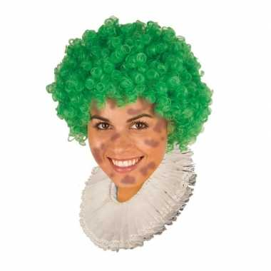 Zwarte roetveeg pieten pruik groen