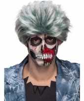 Grijze zombiepruik voor heren