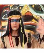 Indianen verkleed pruik met veren voor heren