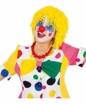 Wollen clown pruiken geel